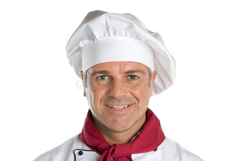 Szczęśliwy uśmiechnięty szef kuchni obraz stock