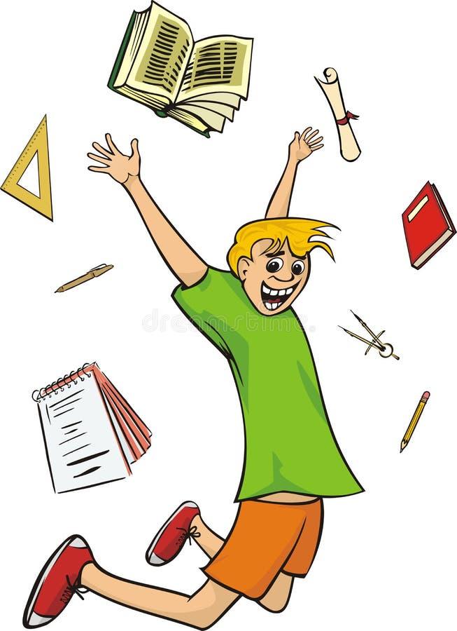szczęśliwy uczeń royalty ilustracja
