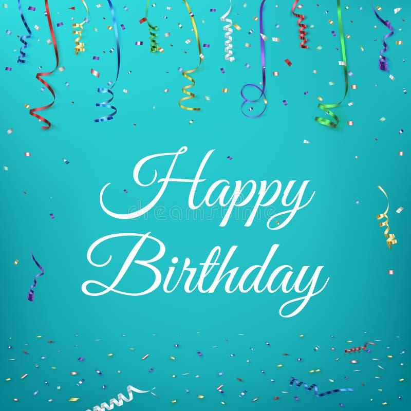 szczęśliwy urodzinowy tła świętowanie royalty ilustracja