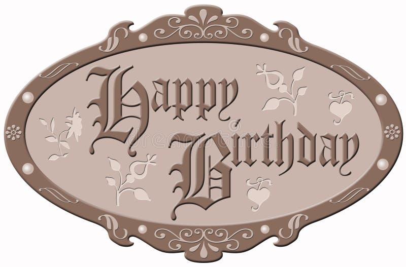 szczęśliwy urodziny. royalty ilustracja