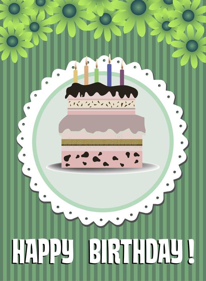 szczęśliwy urodziny ilustracji