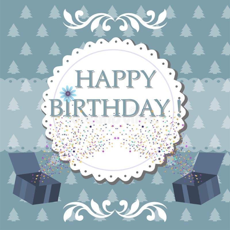 szczęśliwy urodziny ilustracja wektor