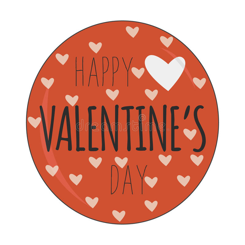 Szczęśliwy valentinednia odznaki logo również zwrócić corel ilustracji wektora royalty ilustracja
