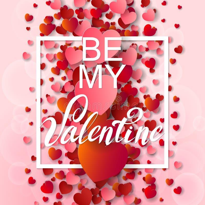 Szczęśliwy valentines dzień i pielenia tło royalty ilustracja
