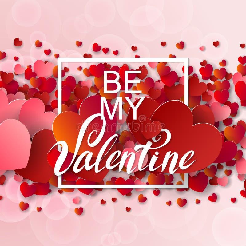 Szczęśliwy valentines dzień i pielenia tło ilustracji