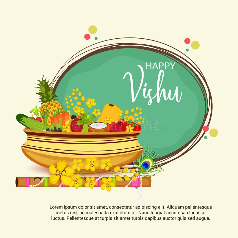 Szczęśliwy Vishu ilustracji