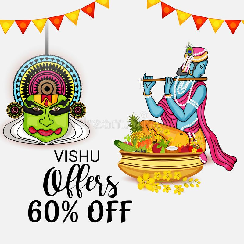 Szczęśliwy Vishu royalty ilustracja