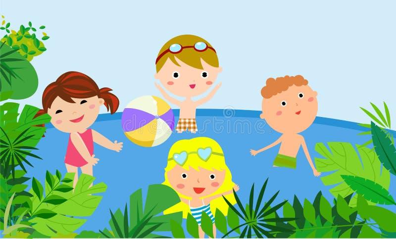 szczęśliwy wakacje ilustracja wektor