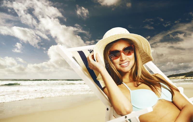 Szczęśliwy wakacje letni fotografia stock