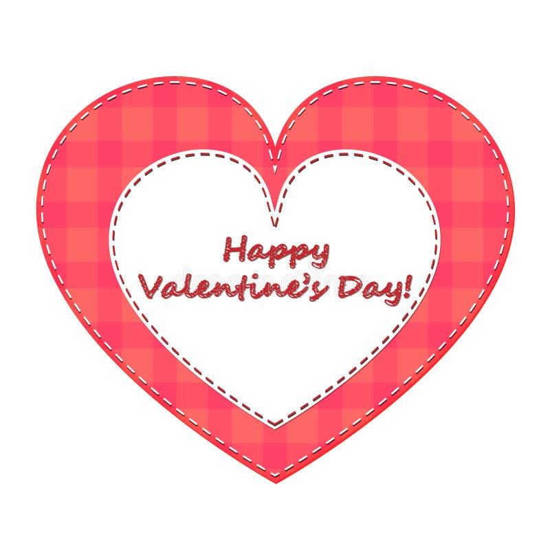 Szczęśliwy walentynka dzień! Walentynka od tkaniny zdjęcie royalty free