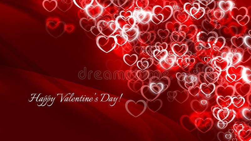 Szczęśliwy walentynka dzień! Wiele czerwoni mali serca ilustracja wektor