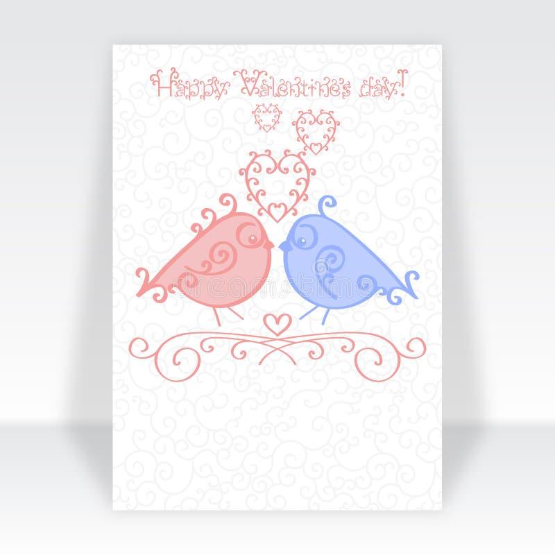 Szczęśliwy walentynki karty szablonu, walentynka dnia przyjęcia ulotki projekt w modnych miękkich kolorach lub Kreskówka kocha co ilustracji