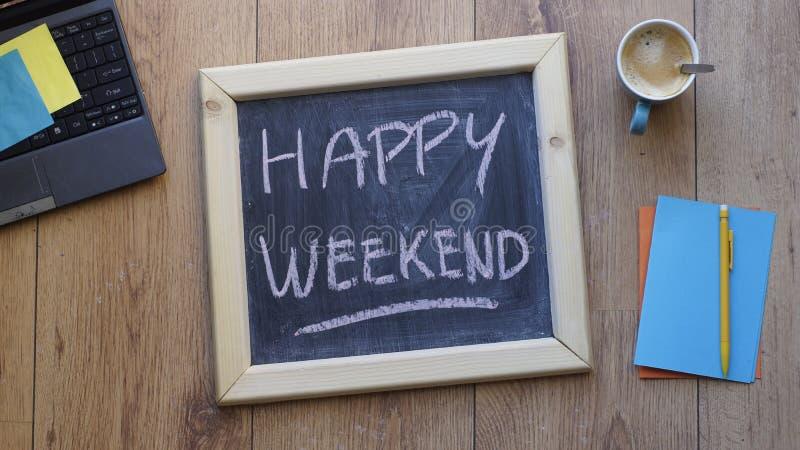 szczęśliwy weekend fotografia stock