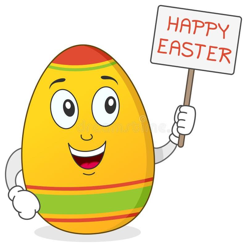 Szczęśliwy Wielkanocnego jajka charakter royalty ilustracja