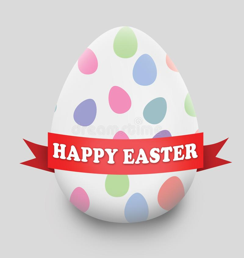 Szczęśliwy Wielkanocny Duży jajko ilustracji