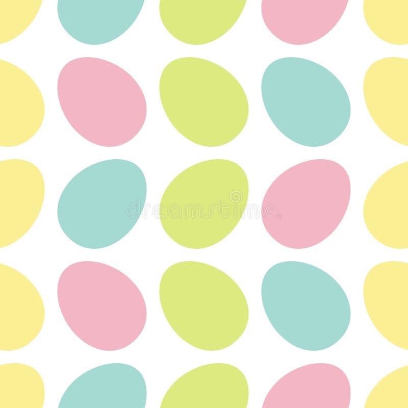 Szczęśliwy Wielkanocny jajko Malujący obraz skorupy set Lekkiego koloru Bezszwowy Deseniowy Opakunkowy papier, tekstylny szablon  ilustracji