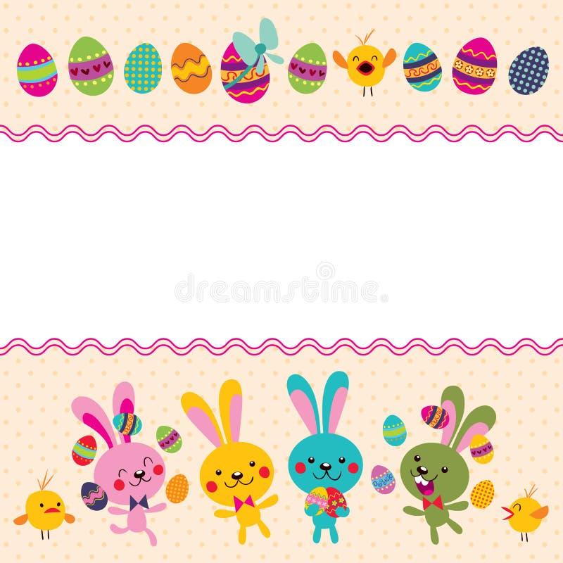 Download Szczęśliwy Wielkanocny Kartka Z Pozdrowieniami Ilustracja Wektor - Ilustracja złożonej z fartuch, kreskówka: 28972141