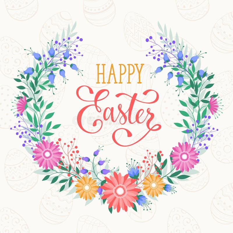 Szczęśliwy Wielkanocny kartka z pozdrowieniami royalty ilustracja