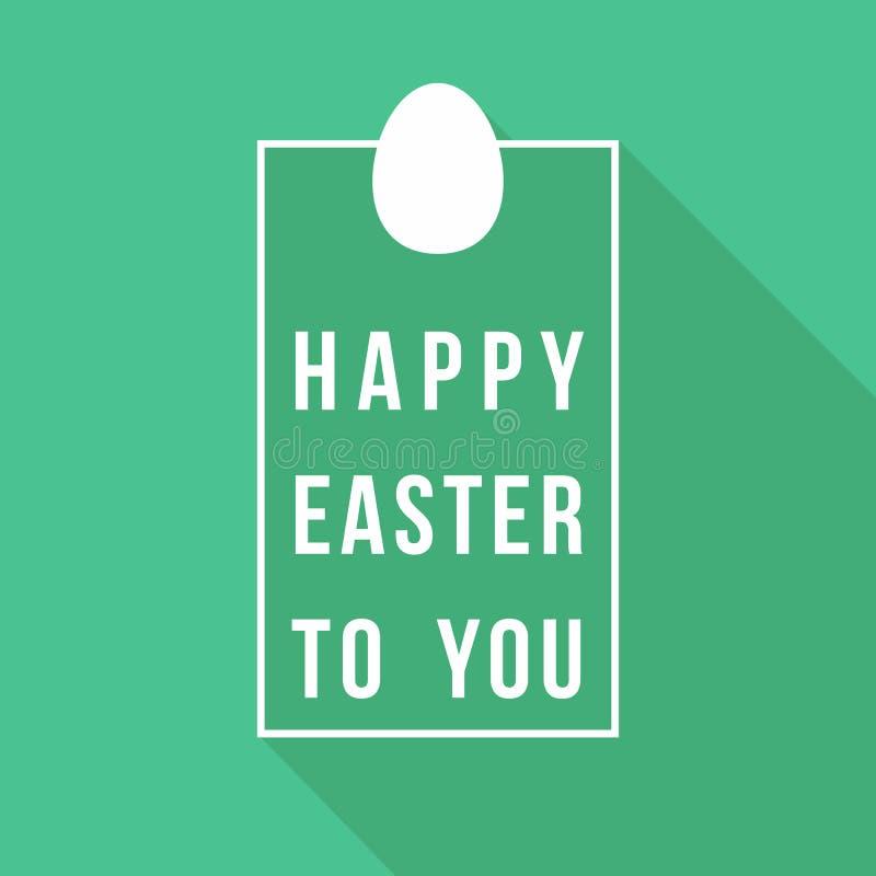 Szczęśliwy Wielkanocny kartka z pozdrowieniami wycena projekt royalty ilustracja