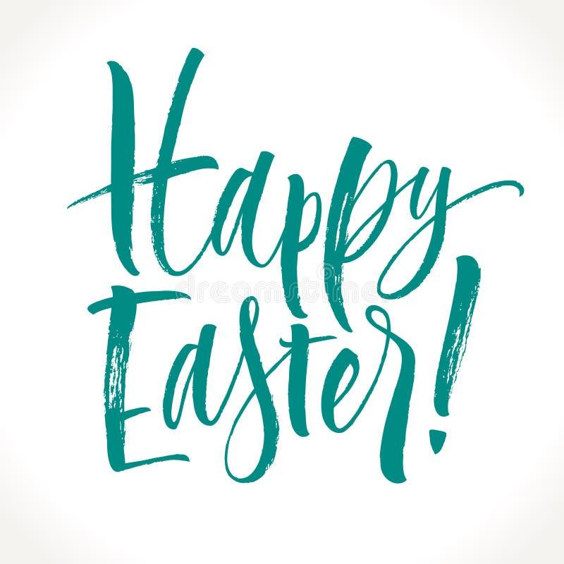Szczęśliwy Wielkanocny literowanie ilustracji