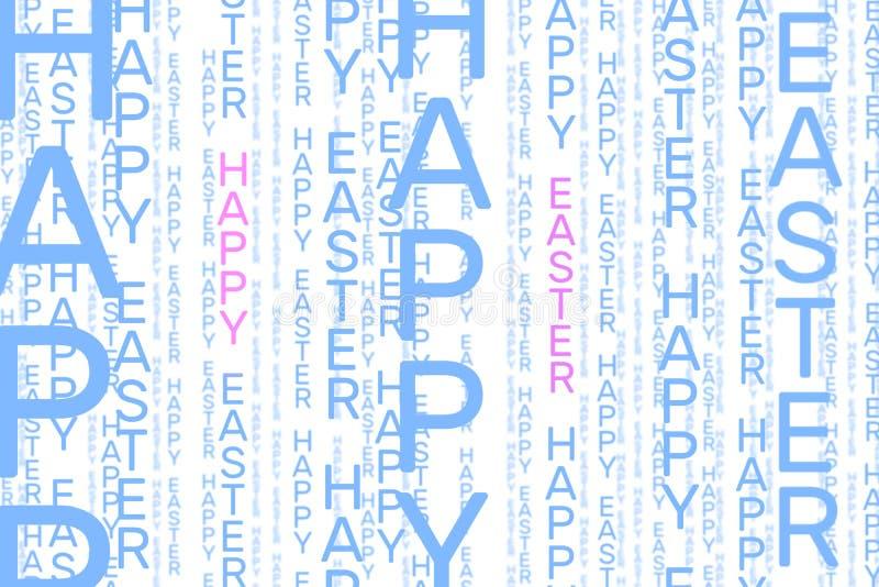 Szczęśliwy Wielkanocny pionowo słowo wzór w bławym i różowym ilustracji