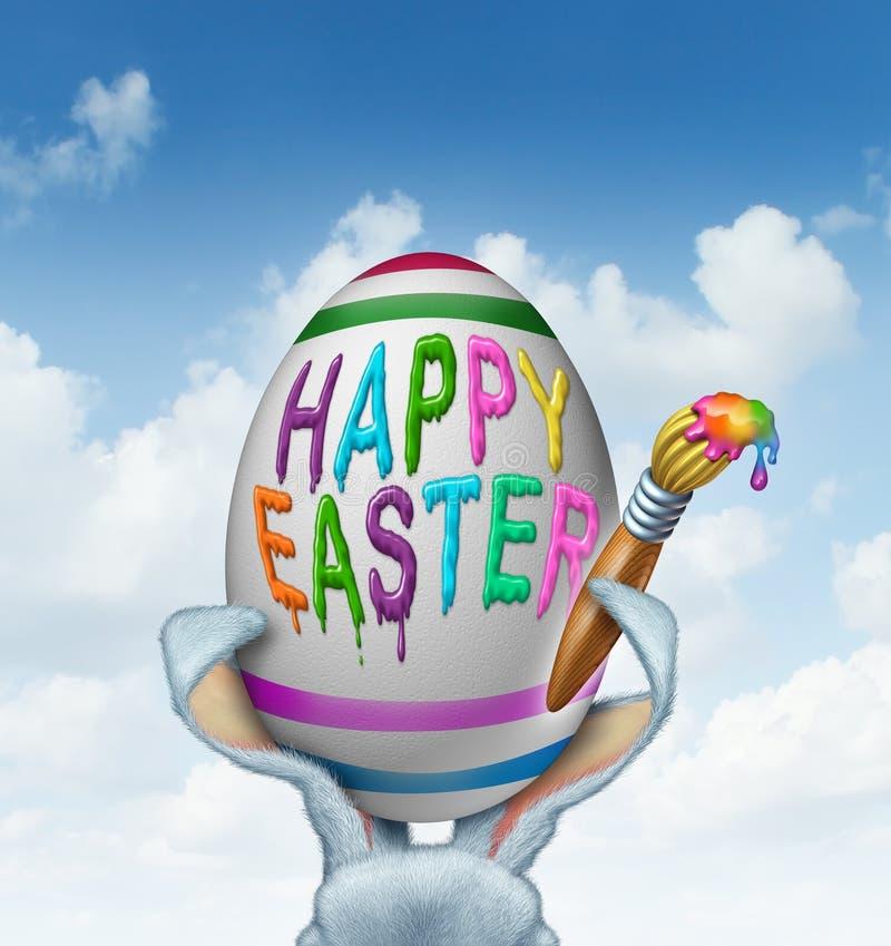 Szczęśliwy Wielkanocny powitanie ilustracja wektor