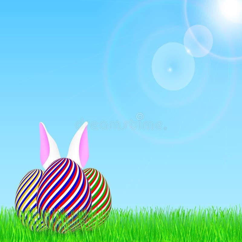 Szczęśliwy Wielkanocny tło przy wiosną royalty ilustracja