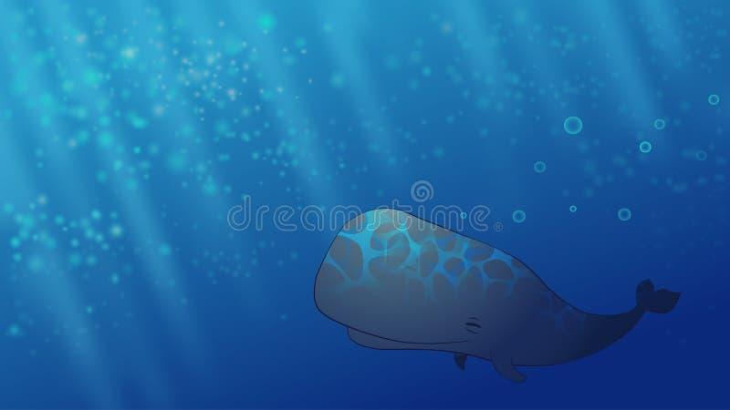Szczęśliwy wieloryb ilustracji