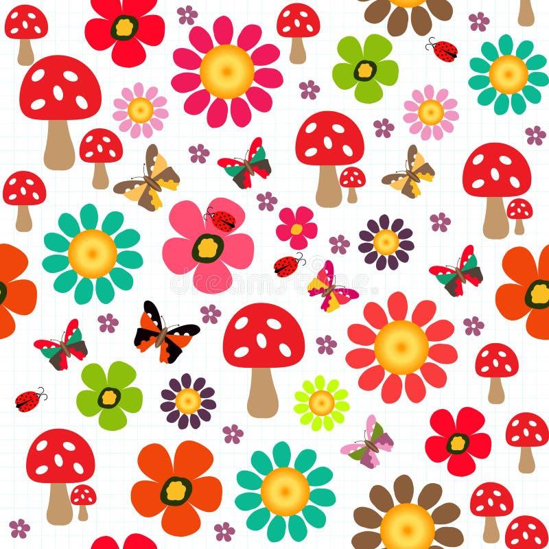 Szczęśliwy wiosna wzór ilustracji