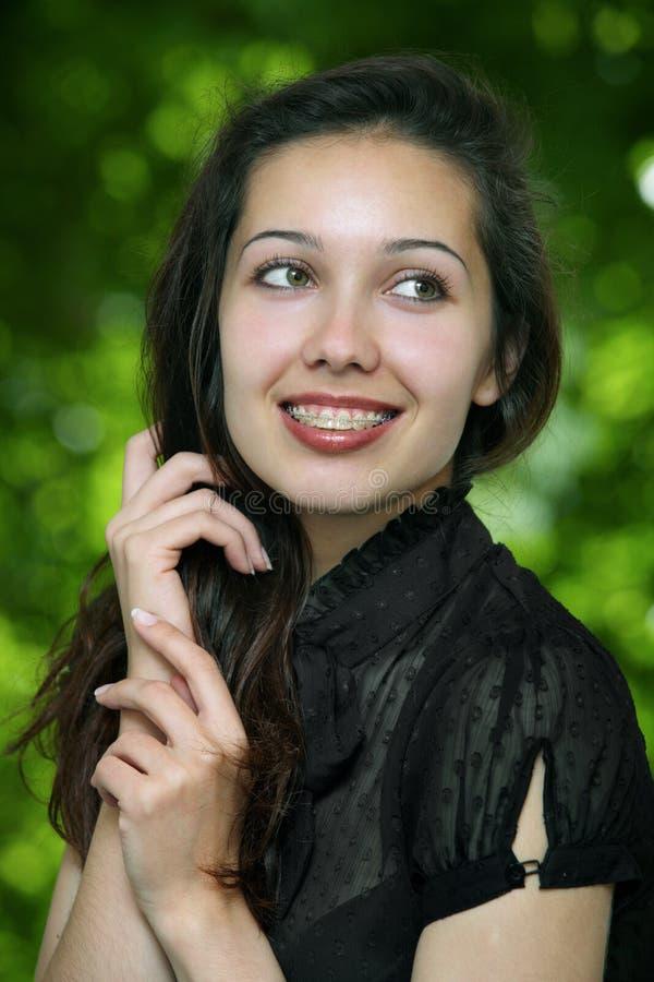 szczęśliwy wzorcowy portret fotografia royalty free
