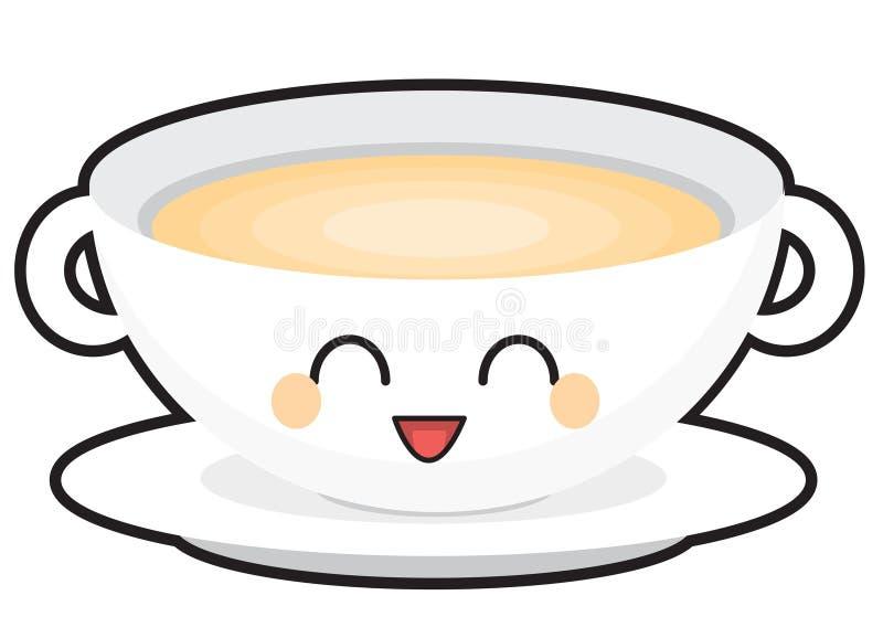 Szczęśliwy zupny puchar royalty ilustracja
