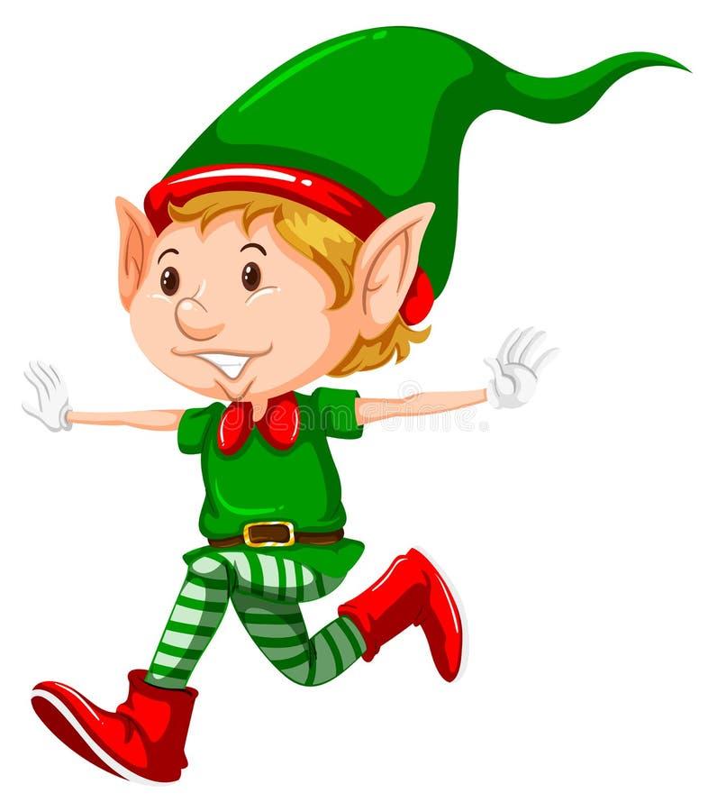 Szczęśliwych bożych narodzeń elfa bieg ilustracji