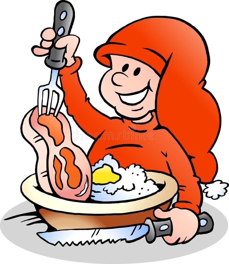 Szczęśliwych bożych narodzeń elfa kucharstwo ilustracja wektor