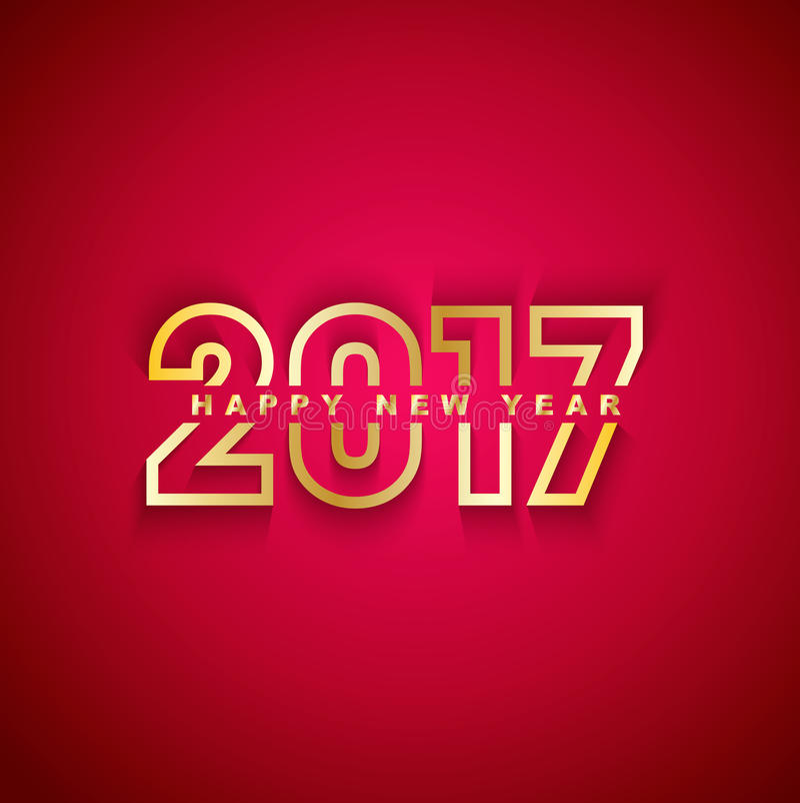 2017 Szczęśliwych nowy rok royalty ilustracja