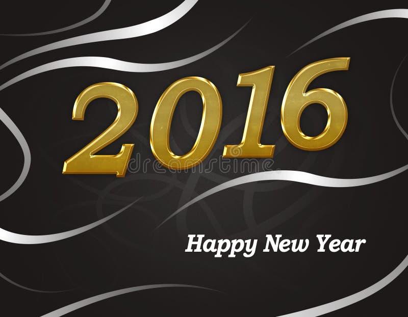 2016 Szczęśliwych nowy rok royalty ilustracja
