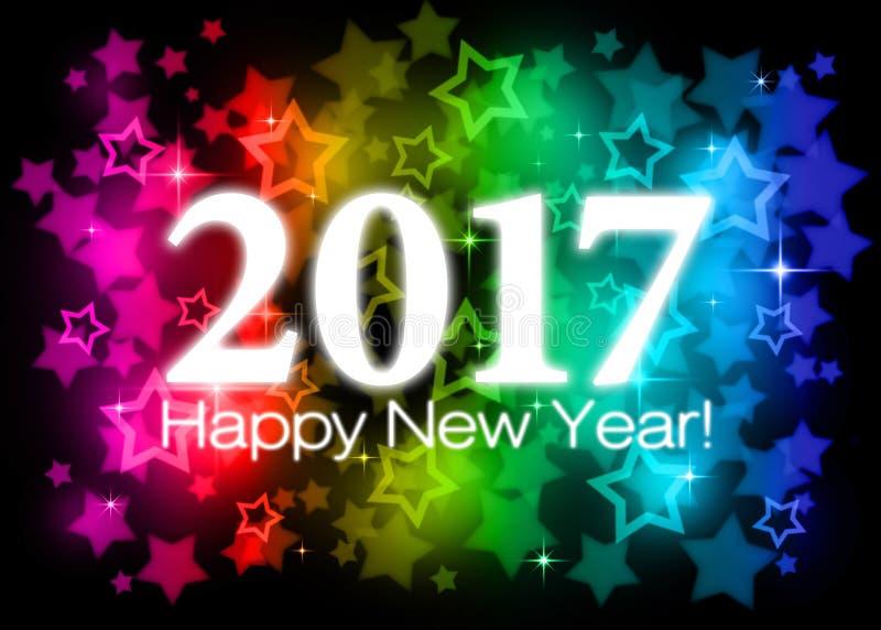 2017 Szczęśliwych nowy rok ilustracji