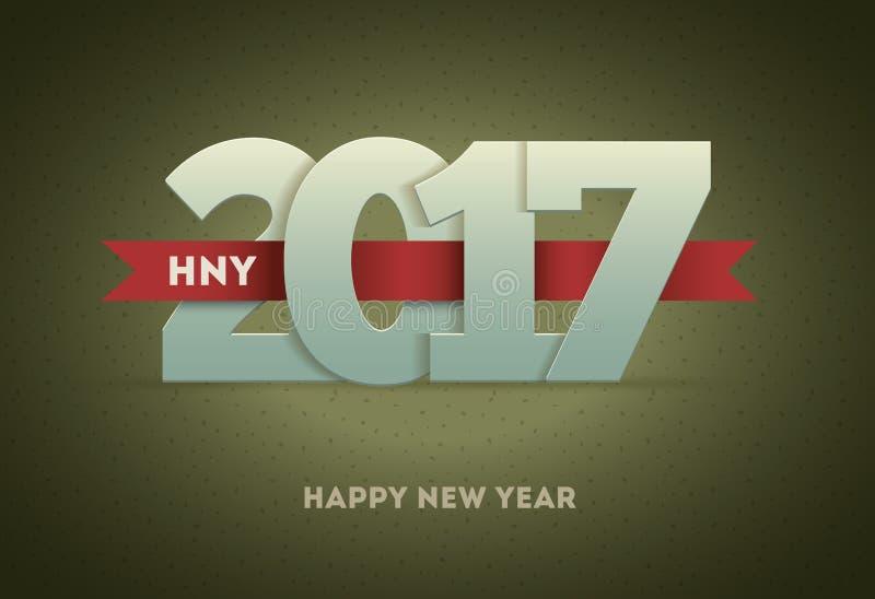 2017 Szczęśliwych nowy rok ilustracja wektor
