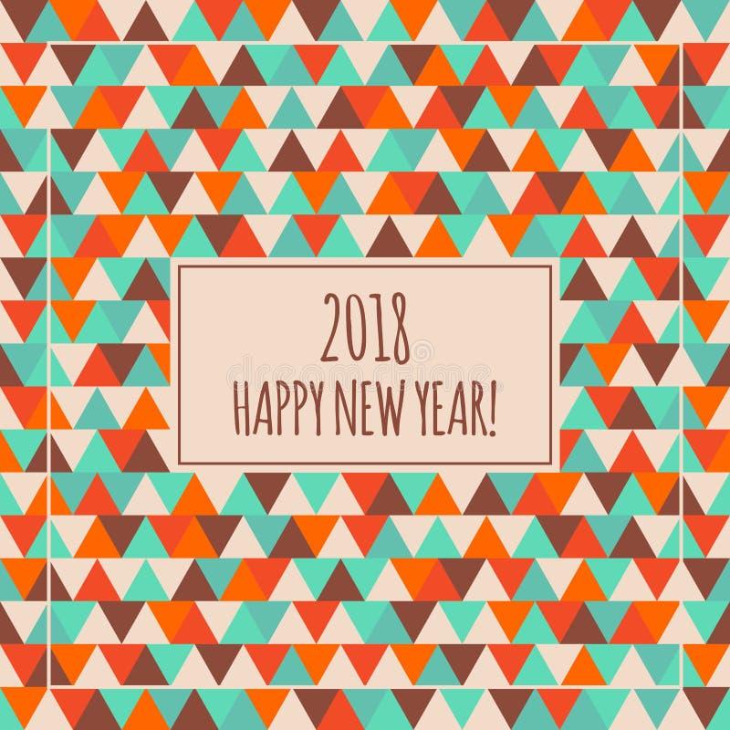 2018 Szczęśliwych nowy rok ilustracj dla dekoraci ilustracji