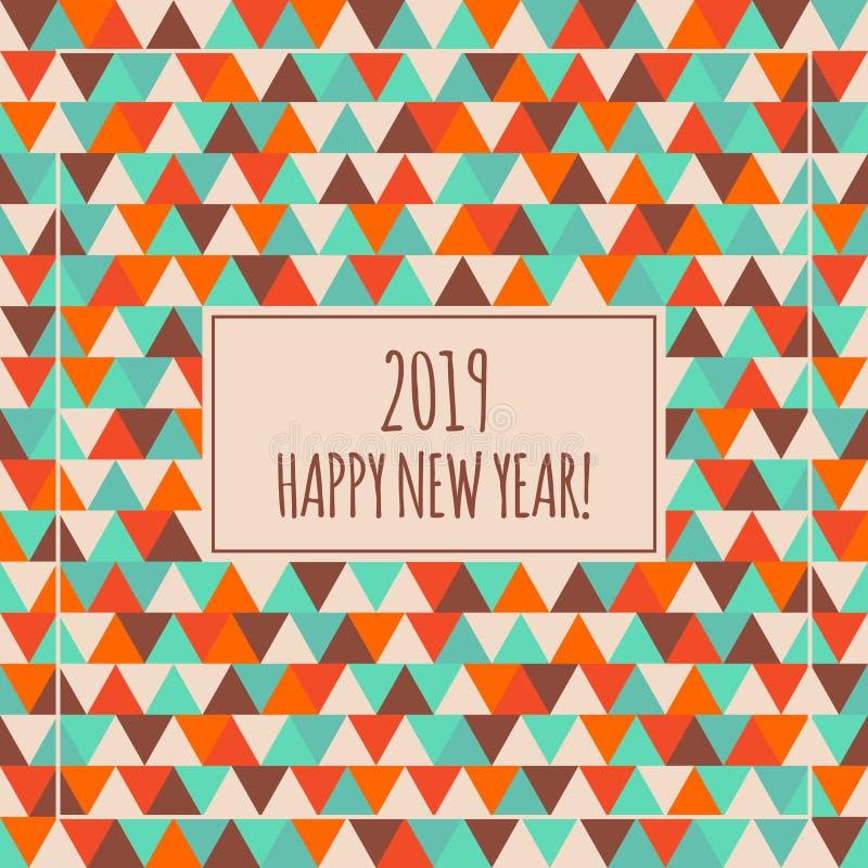 2019 Szczęśliwych nowy rok ilustracj dla dekoraci Zima wakacje trójboka wektoru wzór ilustracji