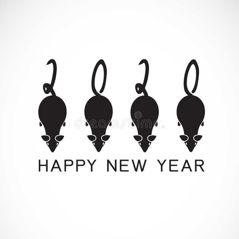 2020 Szczęśliwych nowy rok kartka z pozdrowieniami Wektorowa kaligrafia 2020 rok szczura znaka literowania liczby porządkuje stro fotografia stock