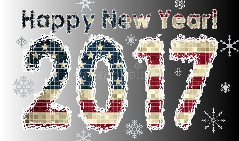 2016 SZCZĘŚLIWYCH nowy rok liczebników, royalty ilustracja