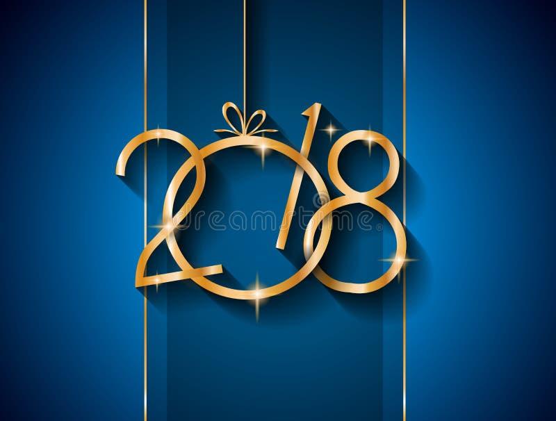 2018 Szczęśliwych nowy rok tło dla twój Sezonowego Gree i ulotek ilustracja wektor
