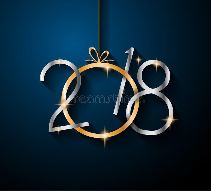 2018 Szczęśliwych nowy rok tło dla twój Sezonowych ulotek ilustracji