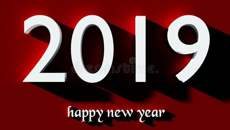 2019 Szczęśliwych nowy rok tapety tło ilustracja wektor