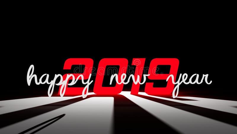 2019 Szczęśliwych nowy rok tapety tło royalty ilustracja