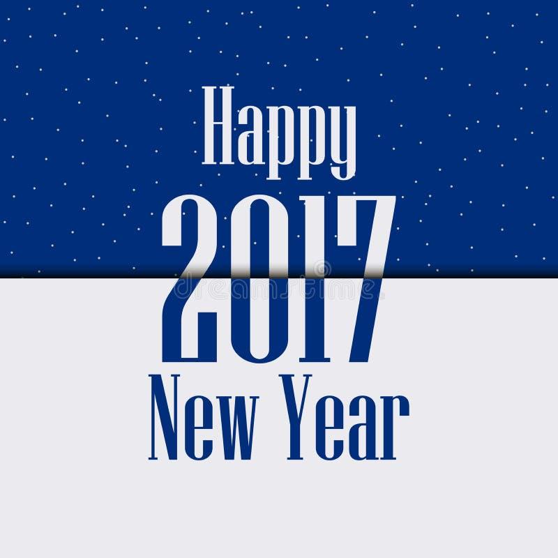 2017 Szczęśliwych nowy rok Uroczysty tło z błyska i cień wektor ilustracja wektor