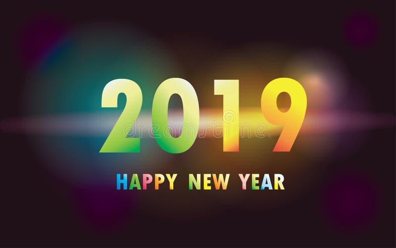 2019 Szczęśliwych nowy rok xmas ilustracji