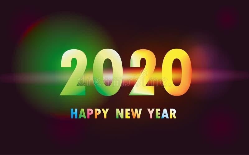 2020 Szczęśliwych nowy rok xmas ilustracja wektor