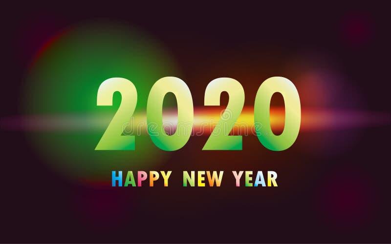 2020 Szczęśliwych nowy rok xmas ilustracji