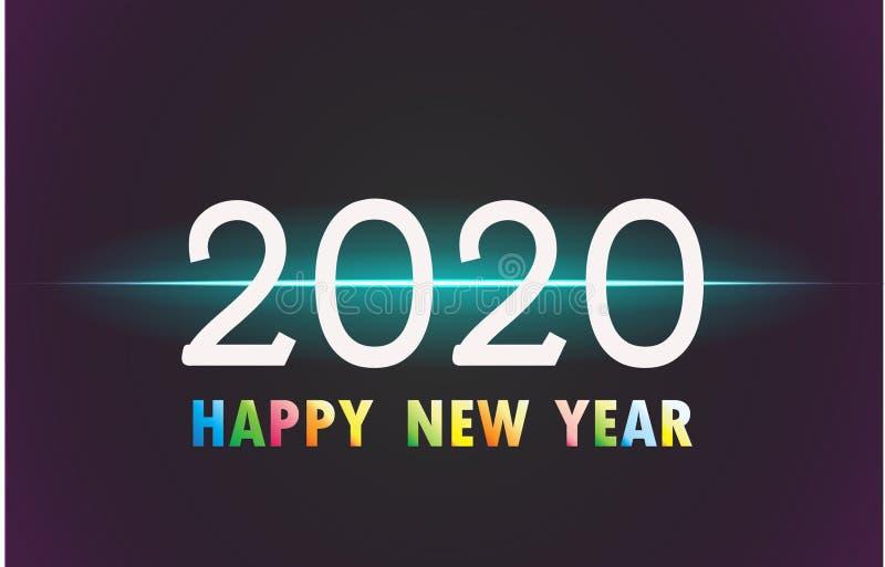 2020 Szczęśliwych nowy rok xmas royalty ilustracja